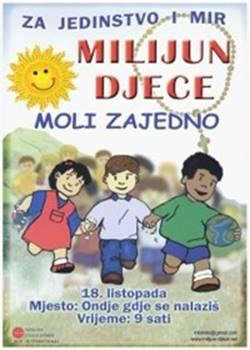 Milijun djece moli zajedno za jedinstvo i mir