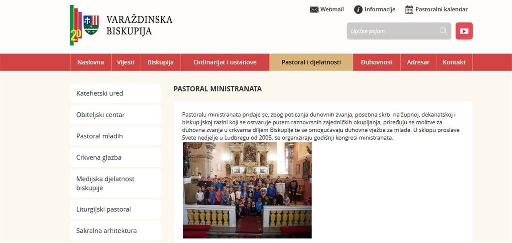 Otvorena web stranica Ureda za pastoral duhovnih zvanja