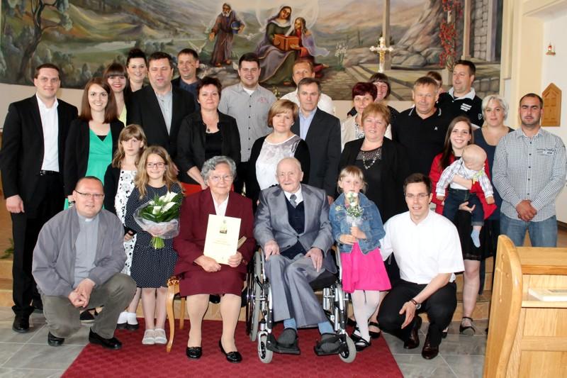 60. obljetnica braka Ignaca i Terezije Stojko iz Hlapičine