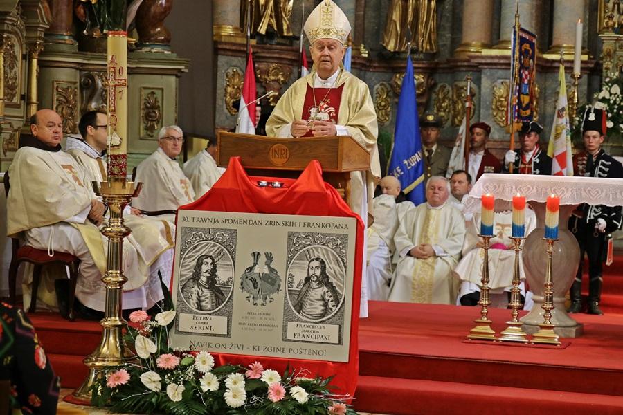 Biskup Mrzljak na spomendanu Zrinskih i Frankopana u Čakovcu