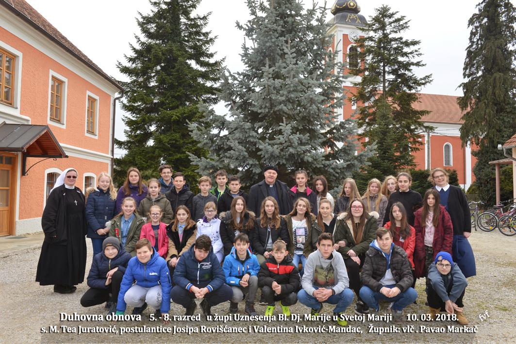 Sestre Milosrdnice iz Zagreba tradicionalno održale duhovnu obnovu za mlade u Župi Sveta Marija