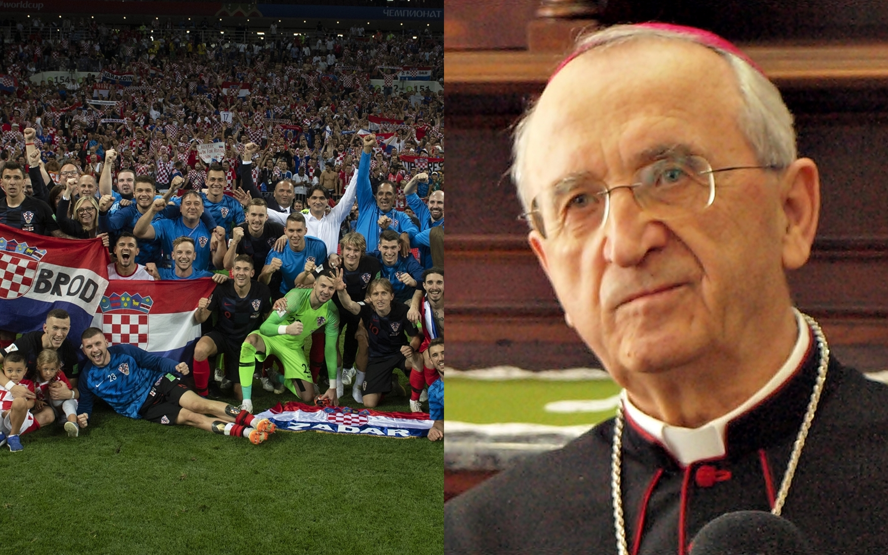 Čestitka predsjednika HBK nadbiskupa Puljića izborniku i nogometašima Hrvatske nogometne reprezentacije