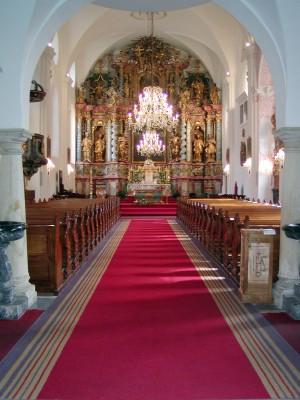 Lađa katedrale - pogled od ulaza